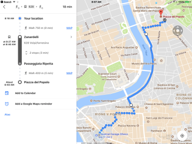 Getting Around In Rome With Google Maps – gregsitaly