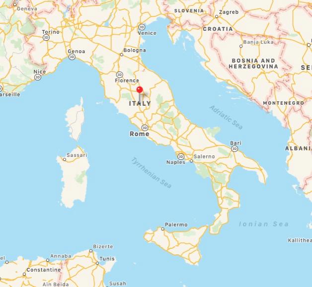 MAP OF ITALYH
