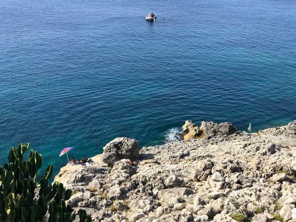 Scuba off the coast Pledmmirio