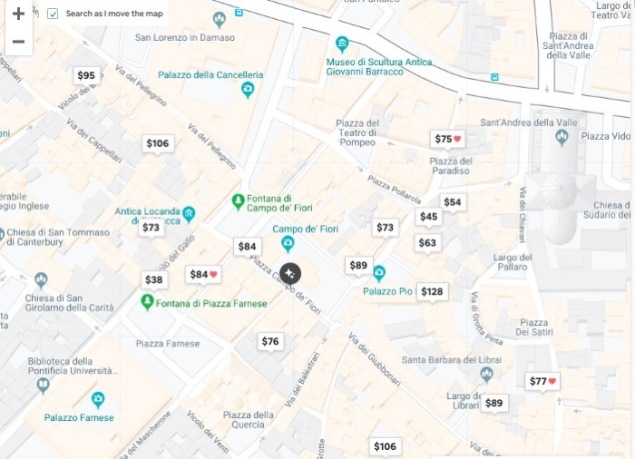 Airbnb map rome